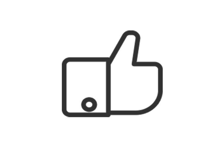 ikona kciuka wgórę